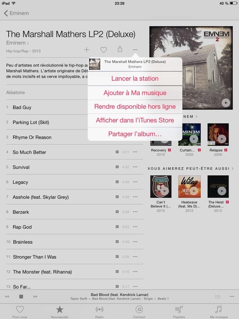 apple music en mode hors connexion