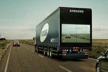 samsung camion transparent écran