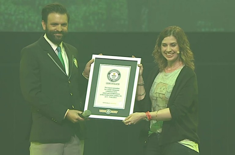 minecon 2015 remise du prix Guinness World Record