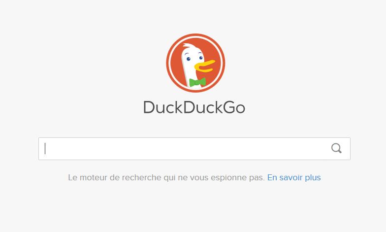 duckduckgo moteur de recherche anonyme interface