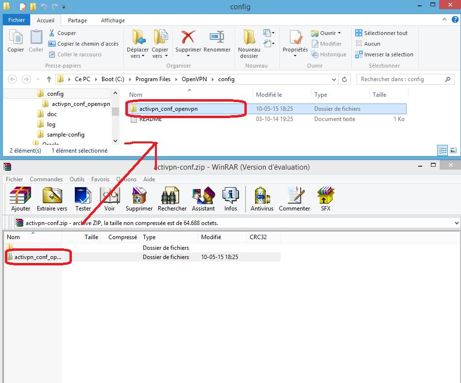 openvpn transfert du fichier