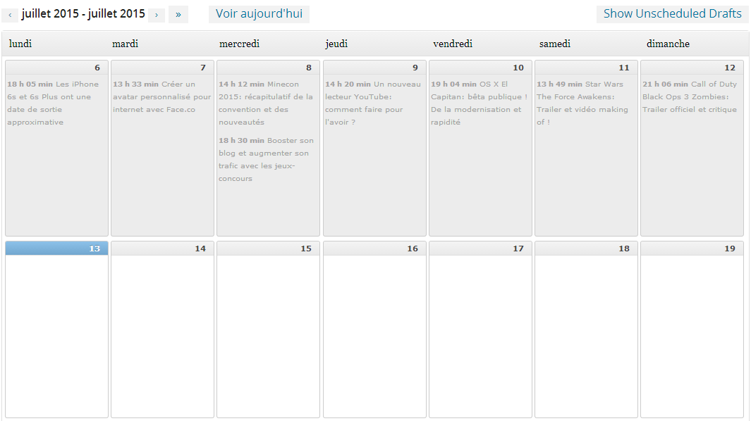 planifier ses articles wordpress avec editorial calendar