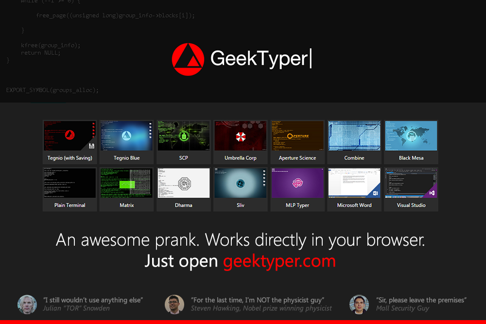web_app__geektyper____an_awesome_hacking_prank_by_fediafedia-d89qfjh Comment devenir un hacker ? Voici la solution avec GeekTyper