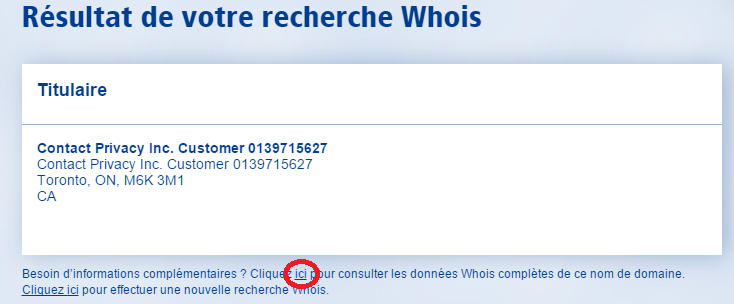 1and1 whois informations titulaire site internet
