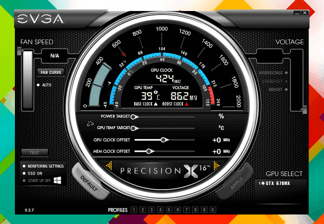 EVGA precision x overclocking ordinateur pc