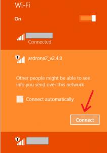 Wifi ArDrone connexion