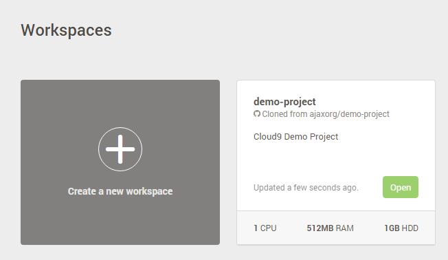 Cloud9 c9 Workspaces