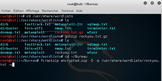 linux-emplacement-bureau Cracker le mot de passe d'une archive ZIP avec Kali Linux