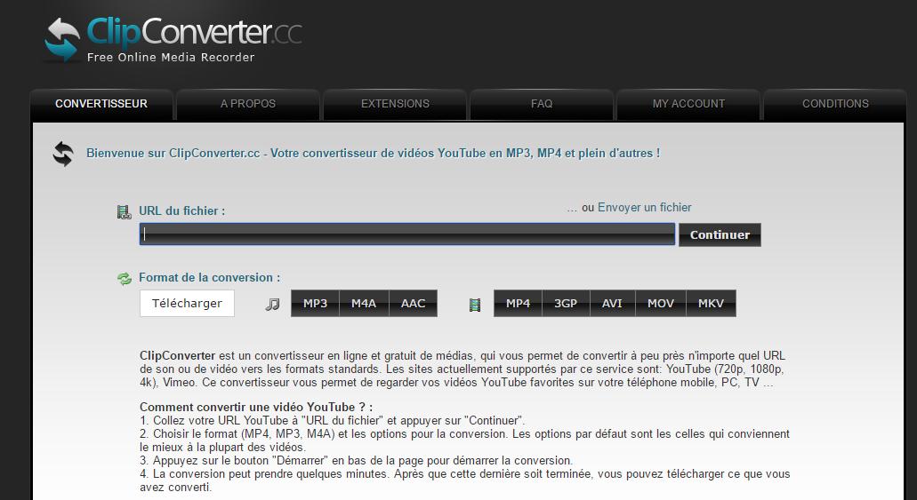 clipconverter Comment télécharger une vidéo YouTube en format MP4 gratuitement ?
