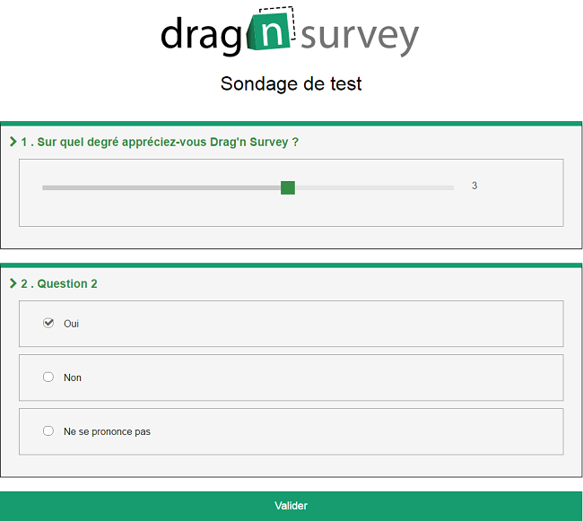 exemple sondage drag n survey