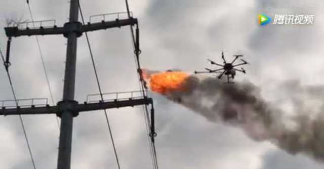 Drone-lance-flamme