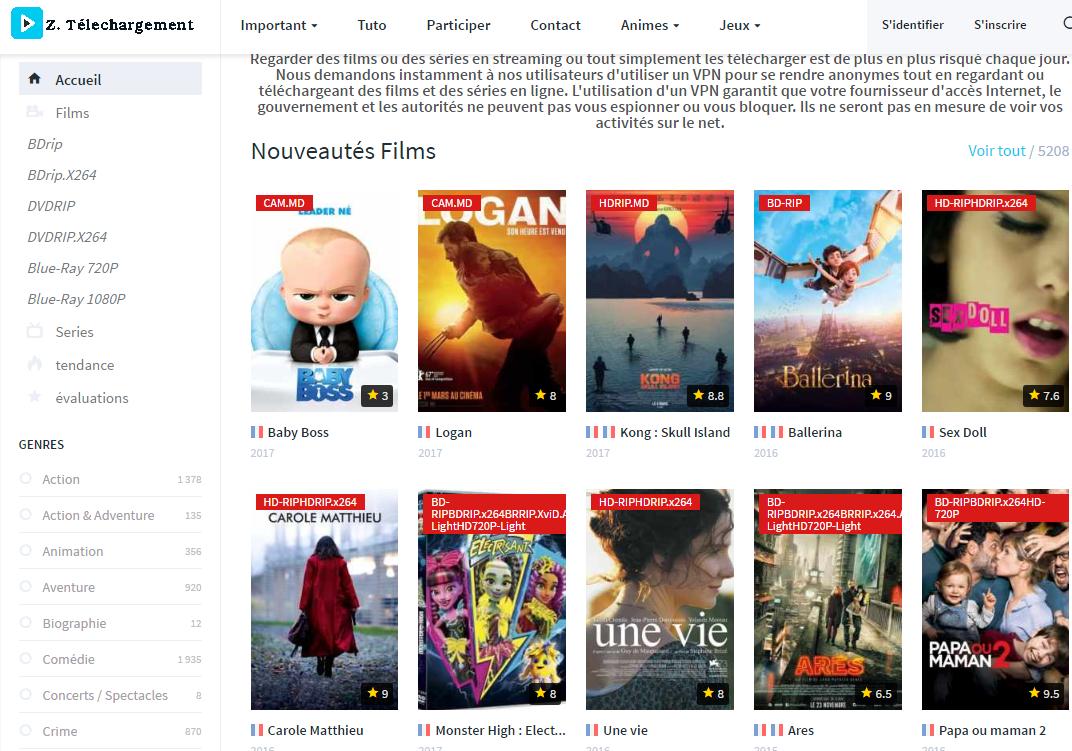 zone-téléhargement-films Meilleurs sites de téléchargement gratuits films et séries