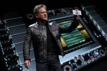 Présentation de la Nvidia GV100 par le CEO de la firme, Jen Hsun Huang