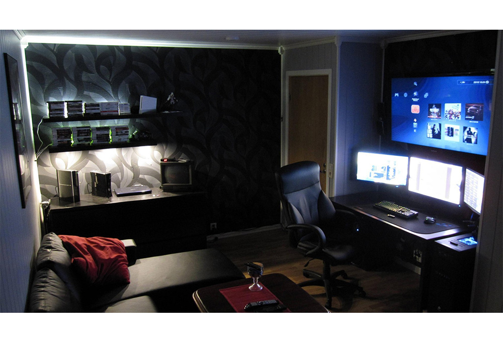 bureau gamer un arsenal gaming confortable et l gant. Black Bedroom Furniture Sets. Home Design Ideas